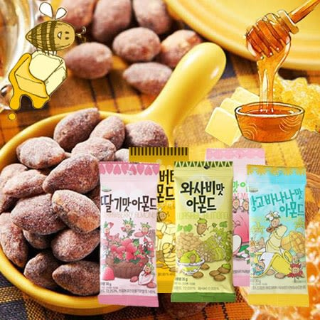 韓國 Toms Gilim 杏仁果 (小) 蜂蜜杏仁果 芥末杏仁果 哇沙米 草莓奶茶 水蜜桃優格 杏仁 隨身包 堅果