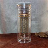 大悲咒水晶杯加厚雙層水杯隔熱耐熱玻璃杯360ml佛緣  初語生活館
