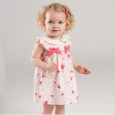 洋裝 Dave Bella 小童 大童 蝴蝶結荷葉袖無袖洋裝 - 小紅花 DBM7506