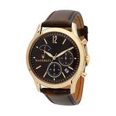 【Maserati 瑪莎拉蒂】Tradizione三眼設計款精品真皮腕錶/R8871625001/台灣總代理公司貨享一年保固