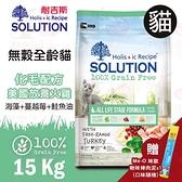PRO毛孩王 耐吉斯SOLUTION 超級無穀 全齡貓全系列15kg(隨機贈咪歐貓肉泥*1條)