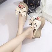 厚底涼鞋坡跟女拖鞋夏季新款韓版時尚外穿
