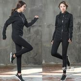 爆汗服套裝暴汗服女套裝夏衣爆汗褲降體重排出發汗服緊身健身房運動跑步XW(一件免運)