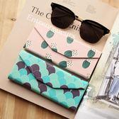 太陽眼鏡盒 鏡盒 三角型便攜摺疊 粉色藍色 大容量文藝可愛 晴天時尚館