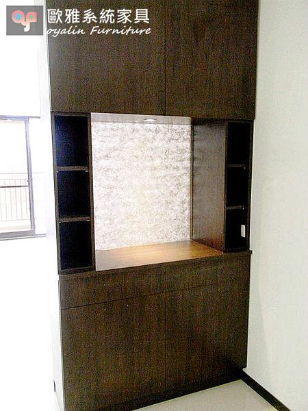 【系統家具】夾砂玻璃中間開放鞋櫃