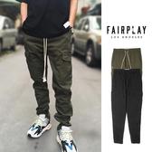 【GT】FairPlay Merlino 黑橄欖綠 長褲 休閒 厚磅 窄管 鬆緊 抽繩 修身 美牌 大口袋 工作褲 錐形褲