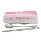 Hello Kitty 304環保餐具吸管五件組(湯匙/ 筷子/ 吸管/ 清潔刷/ 收納盒) 蘋果款 KS-7210KA