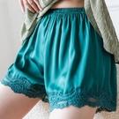 可外穿寬鬆防走光安全褲女夏大碼胖mm200斤緞面薄款蕾絲打底短褲 快速出貨