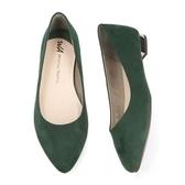 【ORiental TRaffic】復古秋色尖楦平底鞋-復古綠