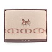 CELINE經典馬車LOGO保暖大毛毯禮盒(駝色)084006-2