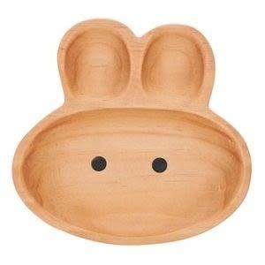 日本PETITS ET MAMAN 造型木質餐盤-兔子(L)
