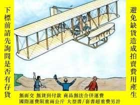 二手書博民逛書店The罕見Story of the Wright Brothers (Dover History Coloring