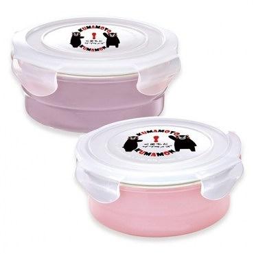 KUMAMON 酷Ma萌鑄瓷可微波烤箱圓型500ml+800ml保鮮盒
