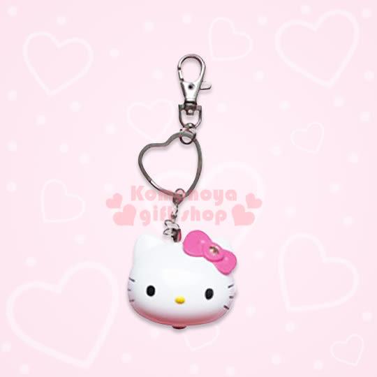 〔小禮堂〕Hello Kitty 造型LED吊飾警報器《S.白.大臉.粉蝴蝶結》8021084-10001
