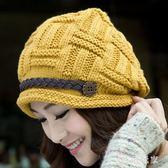 帽子女冬天韓版秋冬季保暖冷帽加絨厚中老年人月子護耳針織毛線帽 ys7609『時尚玩家』
