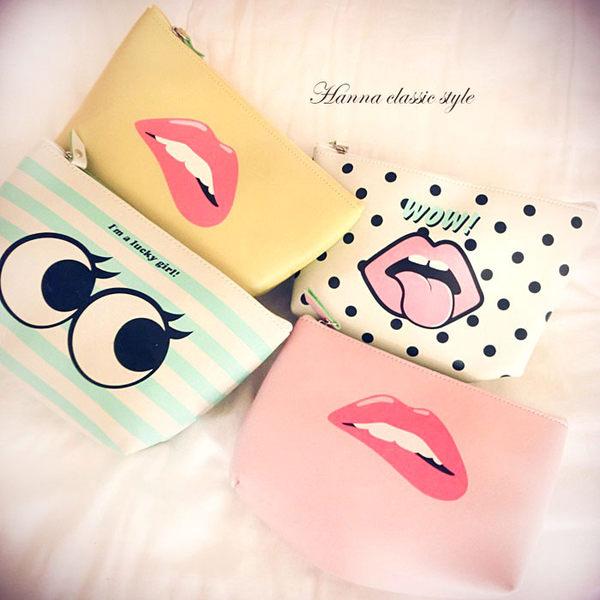《花花創意会社》韓系ULZZANG 表情容量化粧包。四款【H4384】