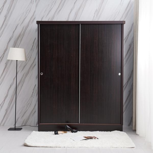 美化木心板 4*7尺 推門衣櫃/拉門(不含內鏡 可加購) 【YUDA】