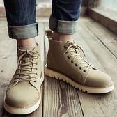 雙12狂歡購 夏季馬丁靴男潮百搭英倫復古沙漠靴男士工裝中筒短靴高筒冬季皮靴