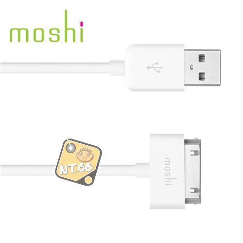 Moshi USB cable for iPod / iPhone USB 2.0 傳輸線 (黑/白)