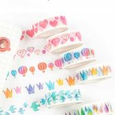 【BlueCat】千紙鶴熱氣球水彩系列和紙膠帶 手帳貼紙