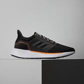 Adidas EQ19 RUN 男 黑橘 運動 輕量 透氣 避震 慢跑鞋 H00929