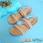 涼鞋 民族風雙帶織面涼鞋 MA女鞋 T1174