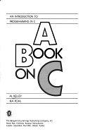 二手書博民逛書店《A Book on C: An Introduction to Programming in C》 R2Y ISBN:0805368604
