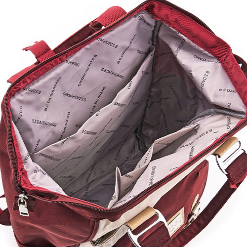 B.S.D.S冰山袋鼠 - 東京遊記 - 慢活度假風防潑水插袋後背包 - 藍莓聖代【1225BP】