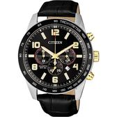 限量 CITIZEN 星辰 hronograph 計時手錶-黑/44mm AN8166-05E
