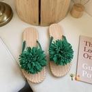 編織鞋 網紅拖鞋女2021夏季新款超火外穿可愛人字涼拖鞋可濕水編織沙灘鞋