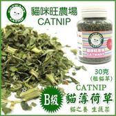 *WANG*貓咪旺農場《B級貓草薄荷-粗葉》同進口貓草,幫助貓咪排出毛球-30g