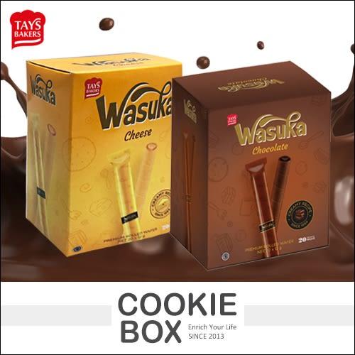 印尼 wasuka 爆漿 威化捲心酥 240g 巧克力捲心酥 起司捲心酥 小雪茄 *餅乾盒子*