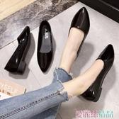 秒殺職業女鞋工作鞋女黑色百搭職業上班鞋舒適軟底防滑平底女鞋淺口單鞋小皮鞋交換禮物