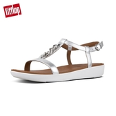 【FitFlop】LANA CHAIN LEATHER BACK-STRAP SANDALS率性金屬鍊條後帶涼鞋(銀色)
