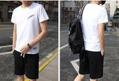 夏季運動套裝男士短袖t恤短褲潮一套衣服韓版休閒大碼兩件套夏天