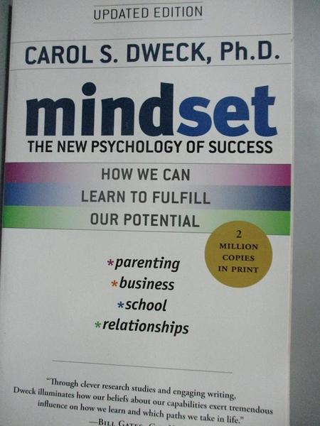 【書寶二手書T1/心理_IIN】Mindset_Dweck, Carol S.