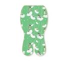 C&D宅一起 CREATIVE DAY 嬰兒專用涼感墊推車涼墊(綠色花開)+日本專利保冰袋[衛立兒生活館]