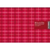 《☆享亮商城☆》 AO2035  50K布格紋資料卡夾-紅  美加美
