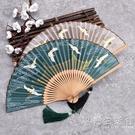 宋徽宗瑞鶴圖復古風6寸女式折扇漢服隨身攜帶中國風小扇子仙鶴 小時光生活館