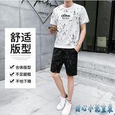 2019夏季大碼新款青少年短袖衛衣短褲運動套裝韓版潮流迷彩T恤兩件式褲裝LXY3110 甜心小妮童裝