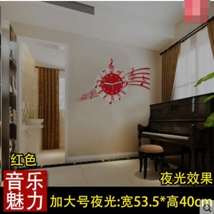 美世達現代客廳創意掛鐘個性簡約裝潢鐘錶臥室靜音時鐘藝術掛表(夜光加大號16英吋)