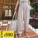 LULUS特價-Y雙釦質感布料直筒寬褲-3色  【04190113】