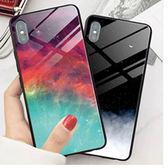 唯美冷淡風 APPLE iphone XS MAX XR 鋼化玻璃保護套 6/6S 7 8 plus 透明玻璃殼 防刮防摔 手機殼 保護殼