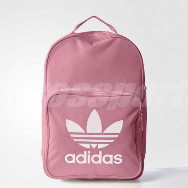 adidas 後背包 Tricot Classic Backpack 三葉草 Logo 粉紅 白 女款 包包 基本款【PUMP306】 BK6725
