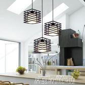 聖誕禮物吊燈現代簡約工業吊燈創意個性復古燈具酒吧檯燈飾鐵藝三頭餐廳吊燈LX