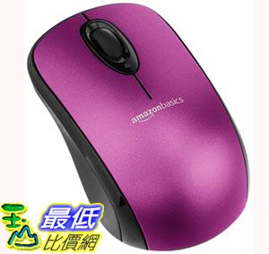 [106美國直購] 滑鼠 紫色 AmazonBasics Wireless Mouse with Nano Receiver - Purple