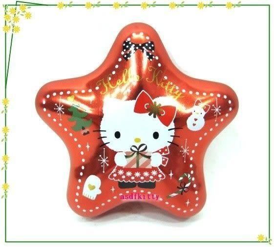 asdfkitty可愛家☆賠錢出清特價 KITTY聖誕樹掛飾/收納鐵盒/禮物盒或幸運籤-日本製