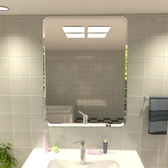 浴鏡 浴室鏡子免打孔壁掛衛生間臥室宿舍高清貼墻簡約粘貼梳妝台化妝鏡 WJ 零度