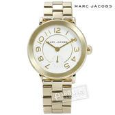 Marc Jacobs / MJ3470 / 經典簡約設計大數字不鏽鋼手錶 白x鍍金 36mm