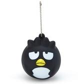 〔小禮堂〕酷企鵝 大臉造型軟掐矽膠有聲吊飾《黑白》掛飾.鑰匙圈 4901610-63037